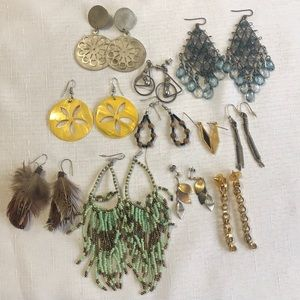 Jewelry - Lot Of 11 Boho Vintage Earrings